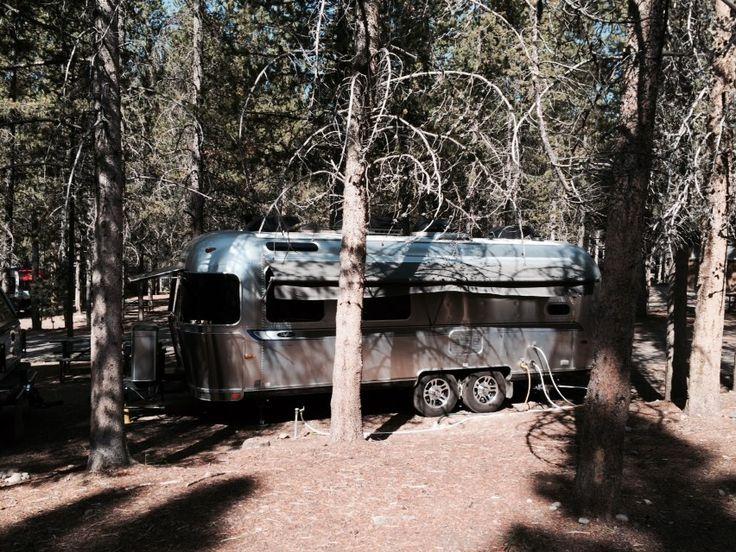 An Airstream Safari Seen At Colter Bay RV Park In Grand Teton National