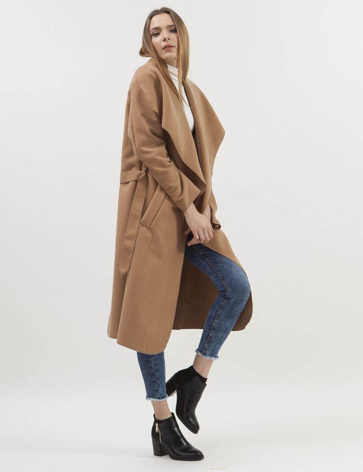 Καμηλό παλτό με ζώνη | Mindyourstyle.gr