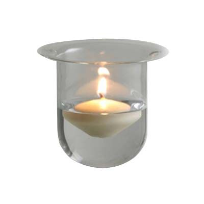 Bell hanging votive holder made of clear glass these for Hanging votive candles