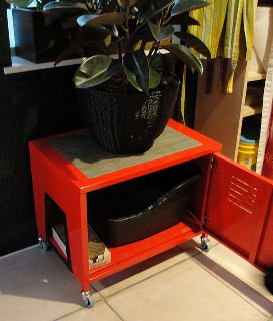 Ikea cabinet made into a kitty litter box #cat: Cat Litter, Litterbox, Ikea Ps Cabinets, Cat Boxes, Ikea Hacks, Litter Boxes, Ikea Hackers, Cat Stuff, Boxes Lockers