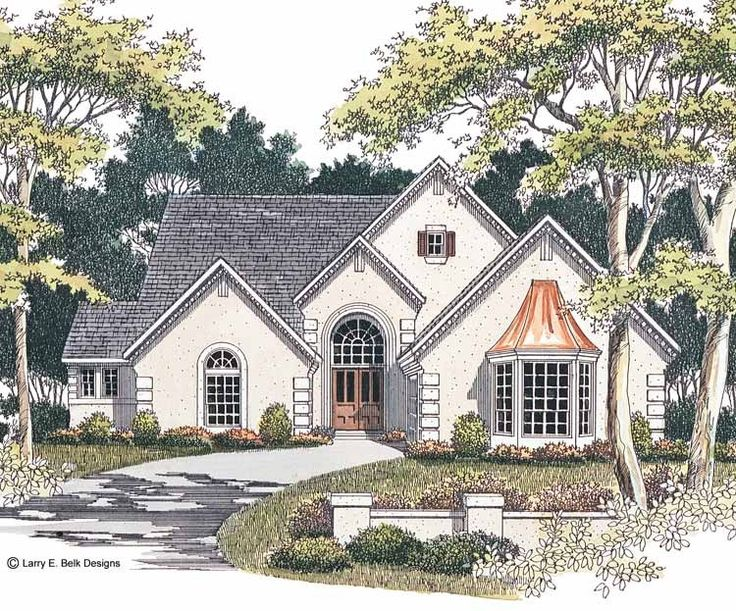 Eplans french country house plan striking stucco home for Www eplans com house plans