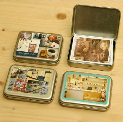 Instax Mini Photo Box & Sticker Set or use altoid box for social security cards in safety deposit box