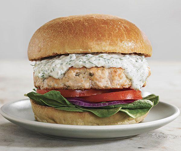 Salmon Burgers with Dill Tartar Sauce | Recipe
