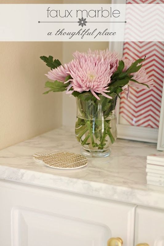 faux marble countertops easy