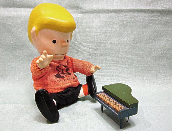 Peanuts Schroeder Boucher Pocket Doll with Piano by COBAYLEY, $48.00  #Peanuts #Schroederpocketdoll #Etsy