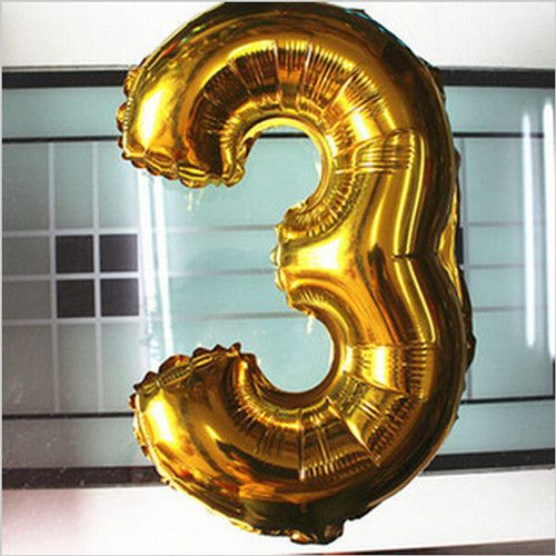 40 Inch Golden And Silver Foil Large Helium Number Balloons-淘宝网