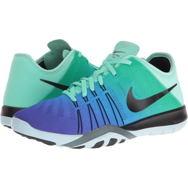 Nike Free TR 6 Spectrum (Green Glow/Black/Glacier Blue) Women's Cross... (900 SEK) ❤ liked on Polyvore featuring shoes, athletic shoes, green, black rubber shoes, lace up shoes, wrap shoes, nike and blue athletic shoes