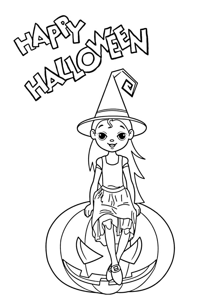 halloween small coloring pages   1000+ images about Holidays coloring pages for kids on ...