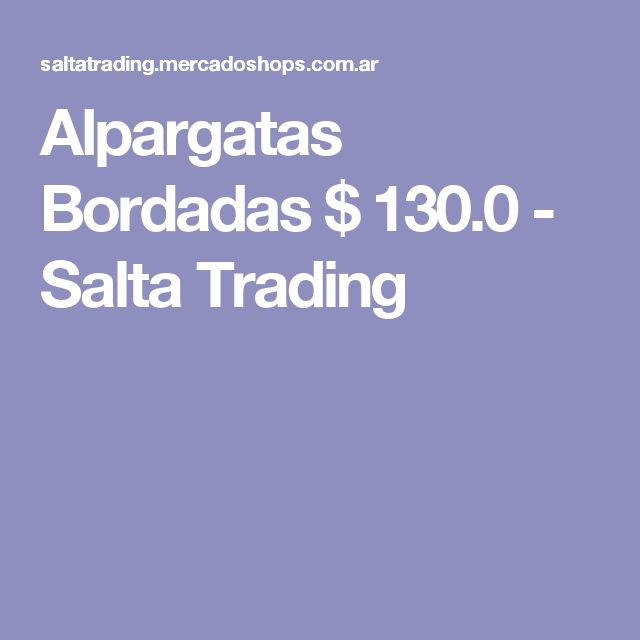Alpargatas Bordadas $ 130.0 - Salta Trading