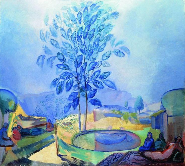 Pavel Varfolomevich Kusnetsov (1878-1968)Eastern Motive 1912-13