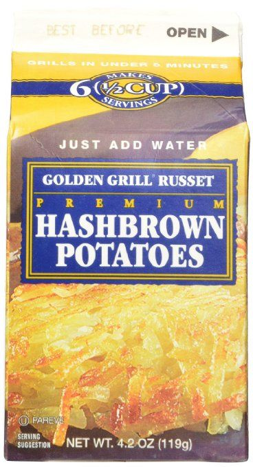 Amazon.com : Golden Grill Russet Hashbrown Potatoes(56 total servings) 8 count pack Net Wt 4.2 oz(119g) per carton : Packaged Hashbrown Potatoes : Grocery & Gourmet Food