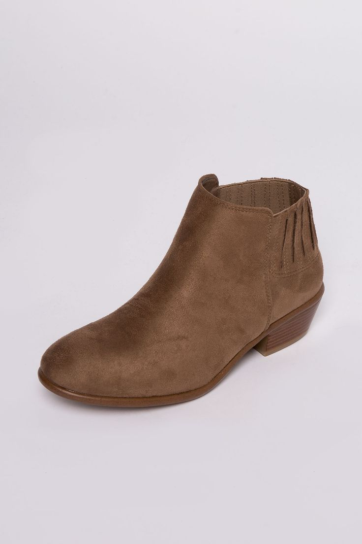 Girls Panel Ankle Boots