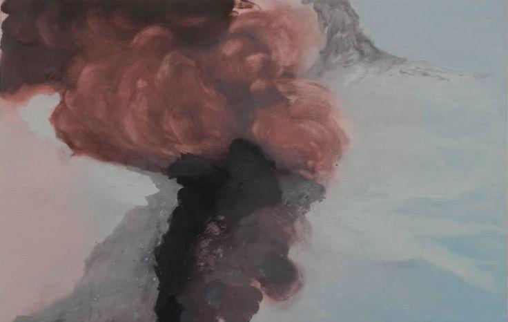 Eruption II, oil on board, 775 x 1205, 2015