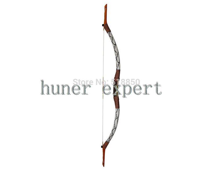 china traditional wooden bow snakeskin long bow 50lbs archery hunting bow 3pcs(China (Mainland))