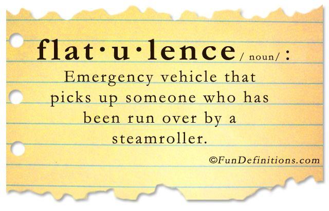 definitions   Fun Definitions - flatulence