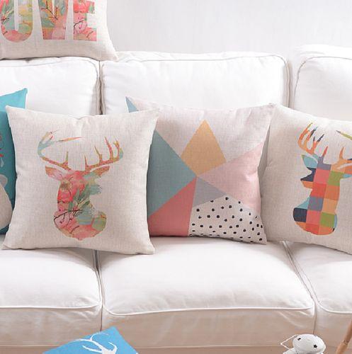 Deer Cushion | Scandinavian Cushions | Elk Cushion Covers