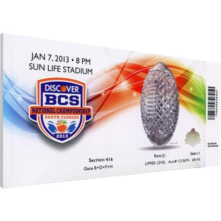That's My Ticket Alabama Crimson Tide 2013 BCS National Championship Canvas Mega Ticket