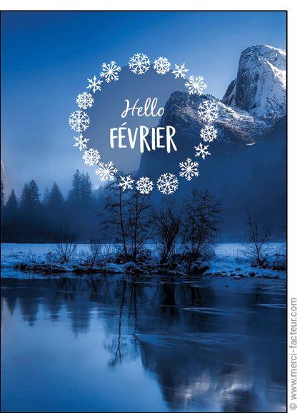 Trouvez de très belles cartes à envoyer en Février ! http://www.merci-facteur.com/carte-fevrier.html #Carte #Février #montagne #lac #ski #neige #vacances #froid #saison #Hiver Carte Hello F�vrier pour envoyer par La Poste, sur Merci-Facteur !