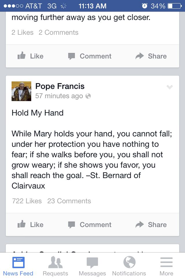 Hold my hand pope francis quotes pinterest
