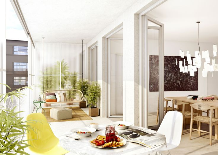 Oscar Properties : HG7 http://www.oscarproperties.com/ #oscarproperties  living room, sofa, interior, factory, architecture, stockholm, design, orangeri, balcony #orangeriet