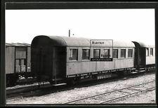 Foto 1956 Sopron Gysév Personen-Waggon Wagen-Nr. B155 Eisenbahn Ungarn MAV
