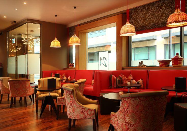 Classic Modern Bistro | 21 interior design by Ward Robinson | Newcastle upon Tyne | Bar Seating Area