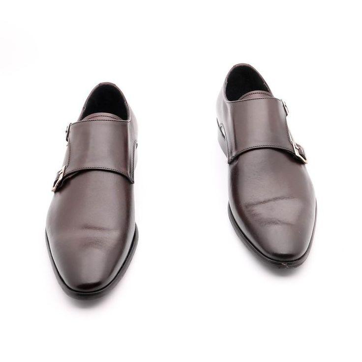 Scarpe primavera / estate per l'uomo, scarpe basse, color prugna, in vera pelle, Suola in cuoio con disegno antiscivolo, Fatto a mano in Italia.