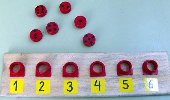 Aprender los Números con Material Reciclado