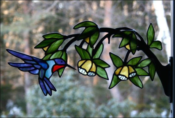519 Best Stain Glass Birds Images On Pinterest Stained