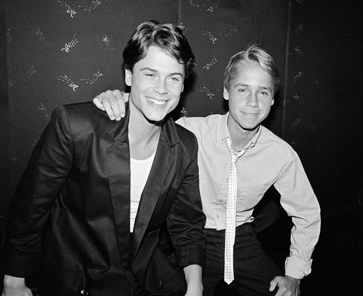 Rob & Chad Lowe in 1983