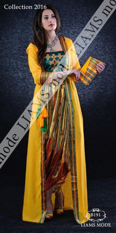 b191 jaune robes kabyle caftan karakou algerienne moderne pinterest formal. Black Bedroom Furniture Sets. Home Design Ideas
