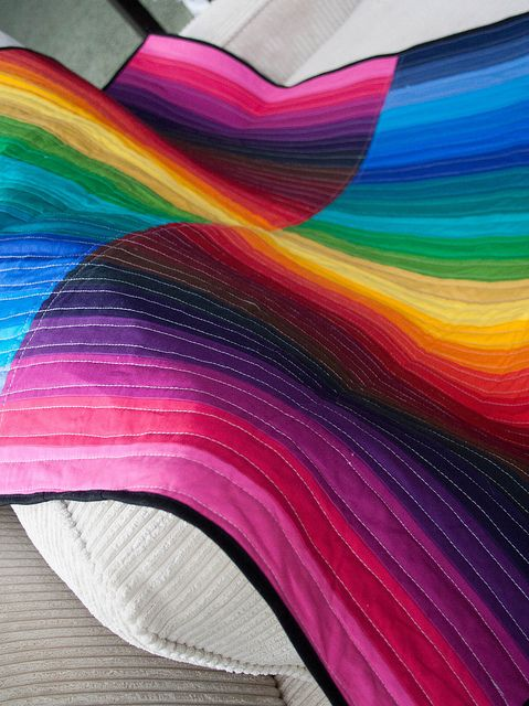 Rainbow quilt! Mom will you make this for our playroom? It would be perfect on the futon.
