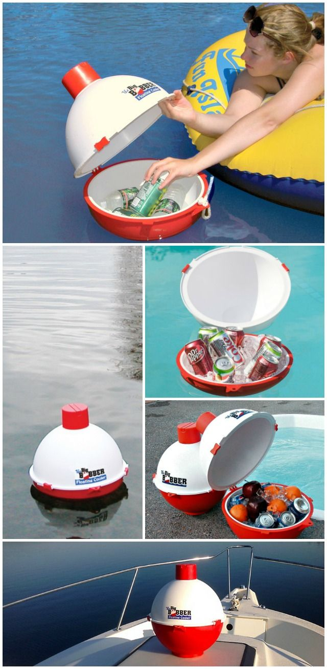 "The Big Bobber Floating Cooler is designed to hold 12 cans with ice. Get everyone's attention with this ""cool"" and handy cooler for anywhere there is water or fun!"