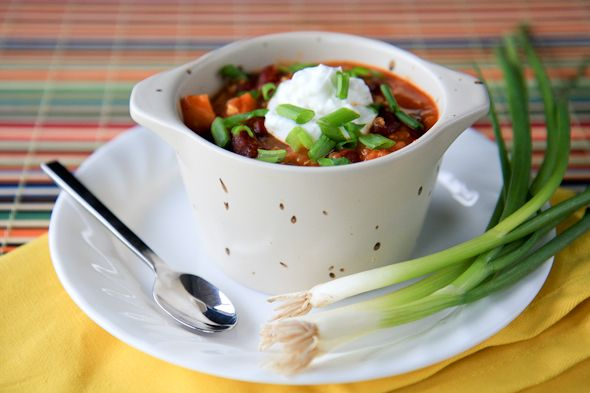 There is so much flavor in this recipe for vegetarian thai quinoa chili, you'll never miss the meat!