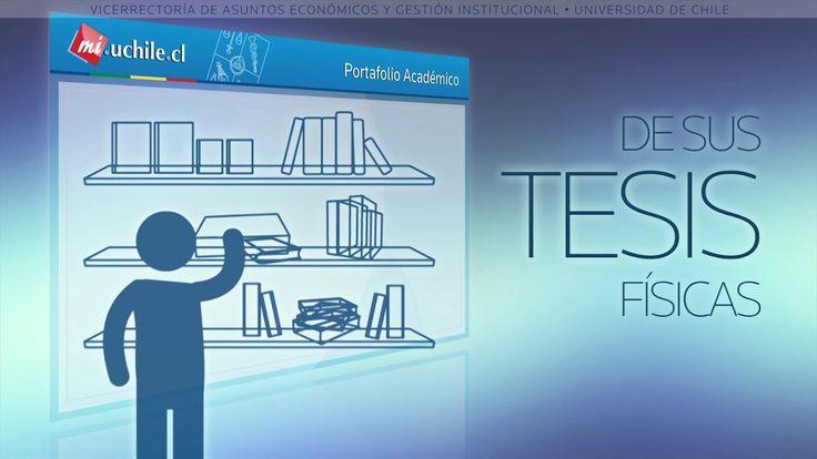 Académicos podrán visualizar en Portafolio las Tesis y Memorias que han guiado. Ver más en http://vimeo.com/100440731