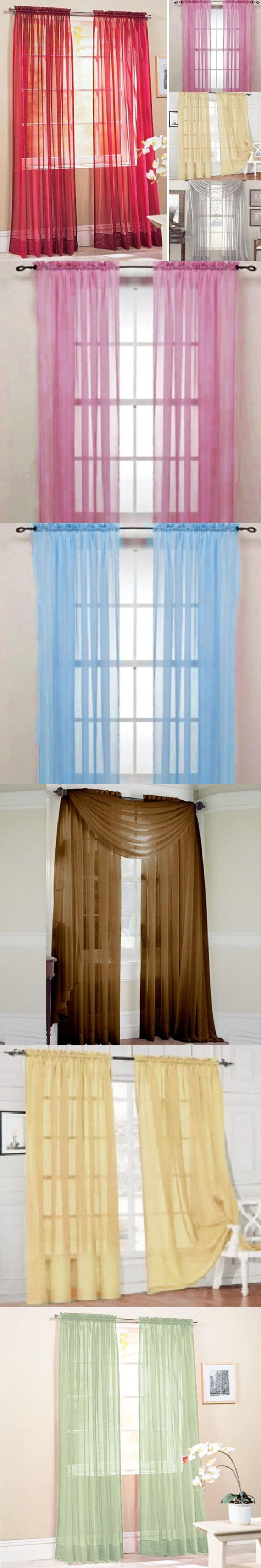modern style tulle window screening blinds sheer voile gauze curtain balcony home decor sheers
