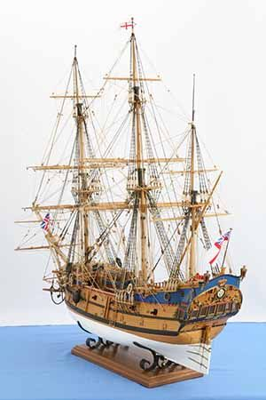 Ship model English East Indiaman PRINCE OF WALES of 1740