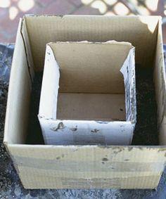 Form aus Karton basteln - für Zementblumenkübel  Hypertufa Planter