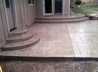 Concrete Patio Design Ideas | Appealing Shiny Stamped Concrete Patio  Designs Ideas | Patio Ideas | Pinterest | Concrete Patio Designs, Concrete  Design And ...