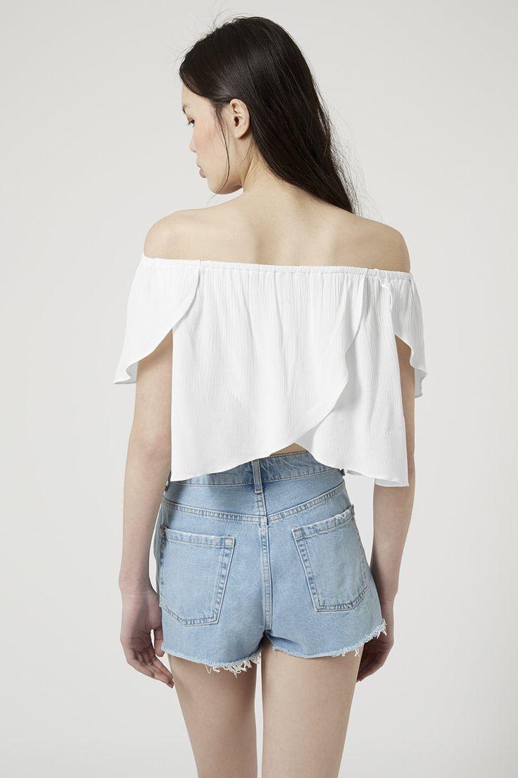 love this little white bardot top