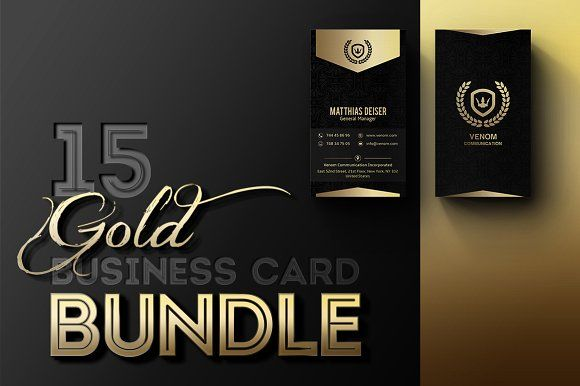 Gold Business Card Bundle by Marvel on @creativemarket