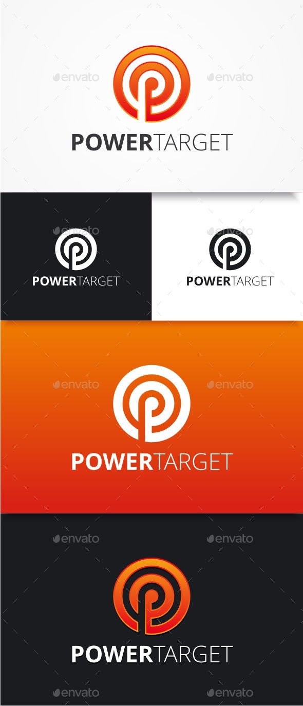 Power Target  P Logo — Photoshop PSD #letter P #icon • Available here → https://graphicriver.net/item/power-target-p-logo/8921565?ref=pxcr