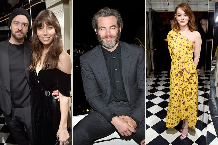 Justin Timberlake, Chris Pine, Emma Stone and More Attend W Magazine Pre-Golden Globes Bash