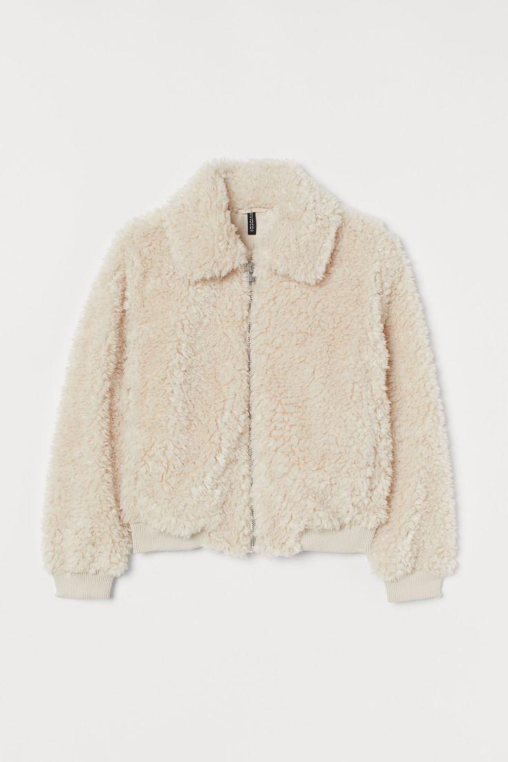 Cozy Sherpa Faux-Fur Jacket in 2020   Black faux fur ...