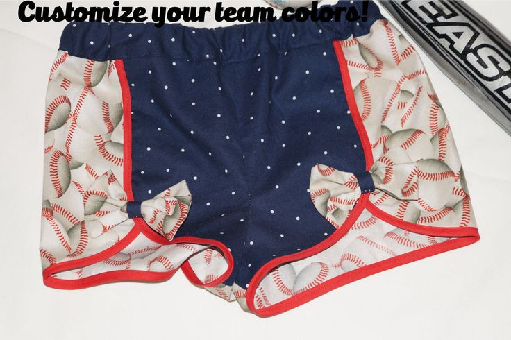 Toddler Girls Customized Baseball Shorts, Team Spirit Shorts, Baseball Shorts, Color Options Available, Baseball Outfit, Girls Shorts,Shorts by BizzyAsABabee on Etsy