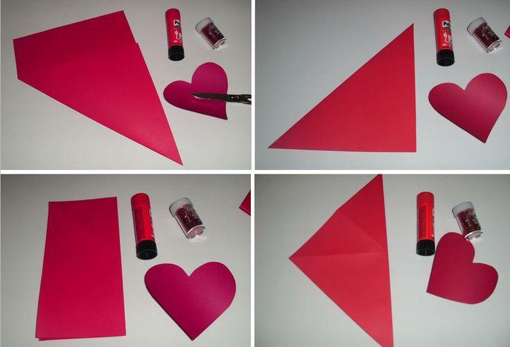 Tarjeta sobre autoensobrable corazon san valentin dia de - Como hacer un corazon con fotos ...