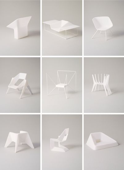 ONE TO FIVE design: Thomas Feichtner producer: Harry Schmidt, Vienna One to Five is an installation comprised of ten previously unreleased chair designs by Viennese designer Thomas Feichtner.
