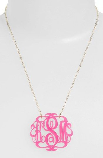 Moon and Lola Large Oval Personalized Monogram Pendant Necklace (Nordstrom Exclusive) | Nordstrom