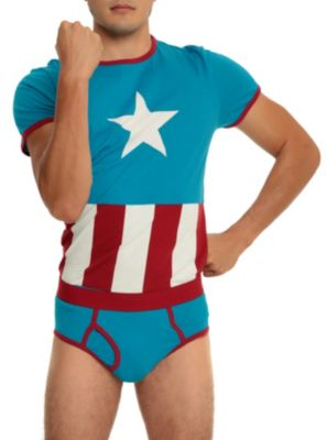 @andra88 I need to get this for Mike!!!!   Underoos Marvel Captain America Guys Underwear Set