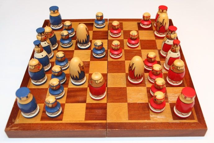 Vintage Original Chess Set From Soviet Union - Kaunas (Lithuanian) -1980's. Hand-painted, Velvet Covering and Nice Soviet Art! - Rare(14) von SovietGallery auf Etsy